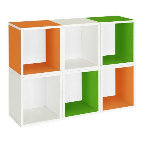 Way Basics 6 Stackable Eco Storage Cubes, Multi Color - Formaldehyde Free - Lifetime Guarantee - image 1 of 4