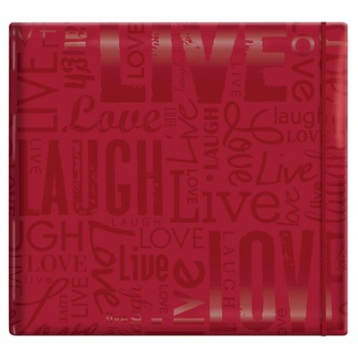 Gloss Live,Laugh & Love Post Bound Scrapbook - Red