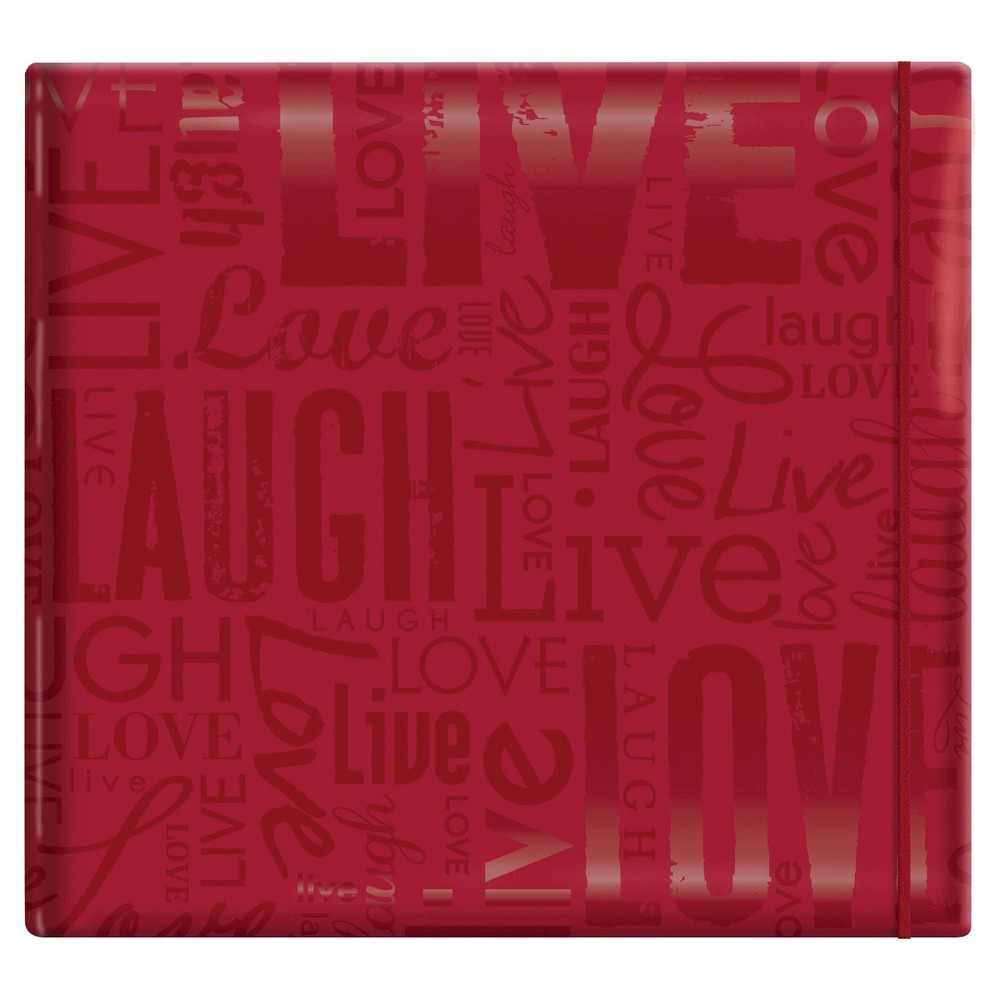 Image of Gloss Live,Laugh & Love Post Bound Scrapbook - Red