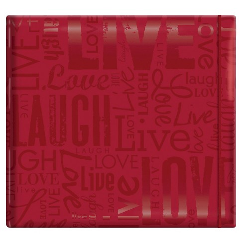 Gloss Live,Laugh & Love Post Bound Scrapbook - Red - image 1 of 1