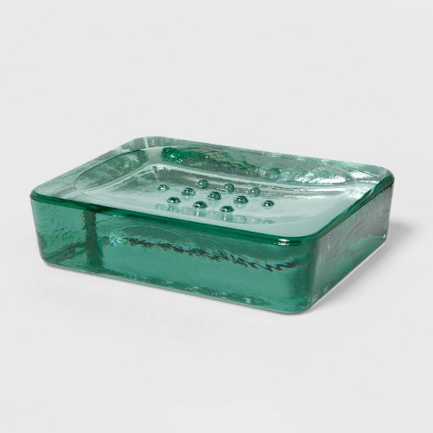 Recycled Glass Soap Dish Clear Threshold Target