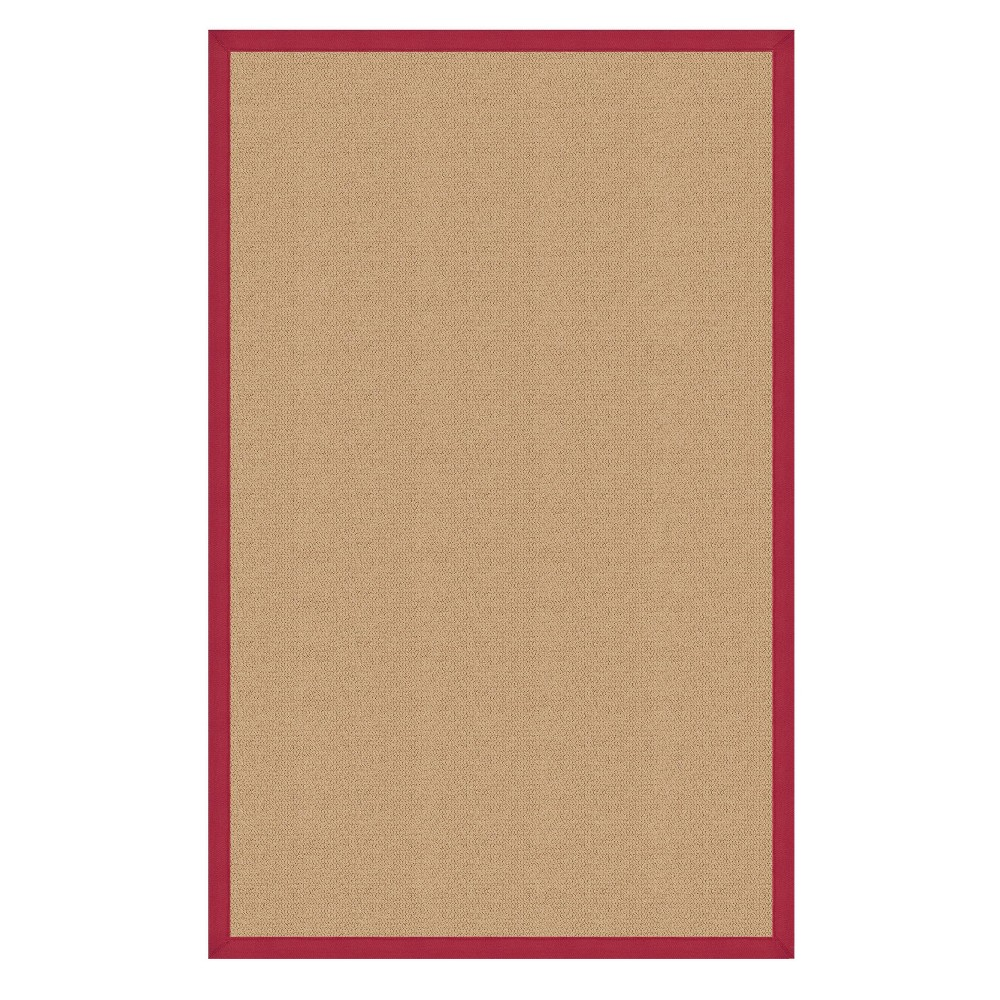 1 39 10 34 X2 39 10 34 Athena Sisal Wool Accent Rug Red Linon