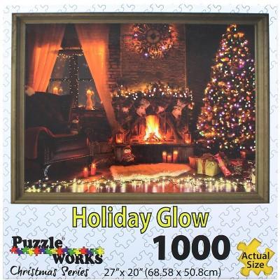 Puzzleworks Holiday Glow 1000 Piece Jigsaw Puzzle