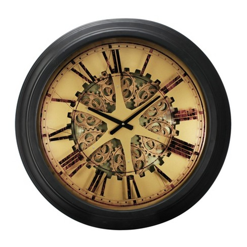 Classic Gears Wall Clock Black - A&B Home - image 1 of 1
