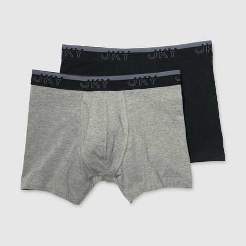 80bb659259b2 JKY By Jockey Men's Ready For Anything Cotton Stretch Boxer Briefs 2pk :  Target