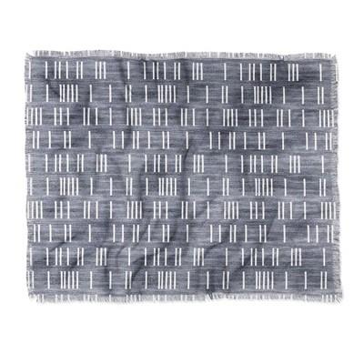"60""X50"" Holli Zollinger Bogo Mudcloth Light Throw Blanket Blue - Deny Designs"