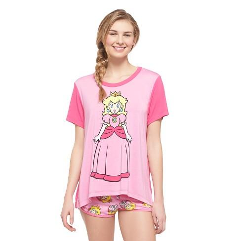 women s princess peach pajama set target