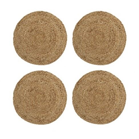 Everyday Casual Braided Jute Round Placemat Set Of 4 15 X 15 Jute Elrene Home Fashions Target