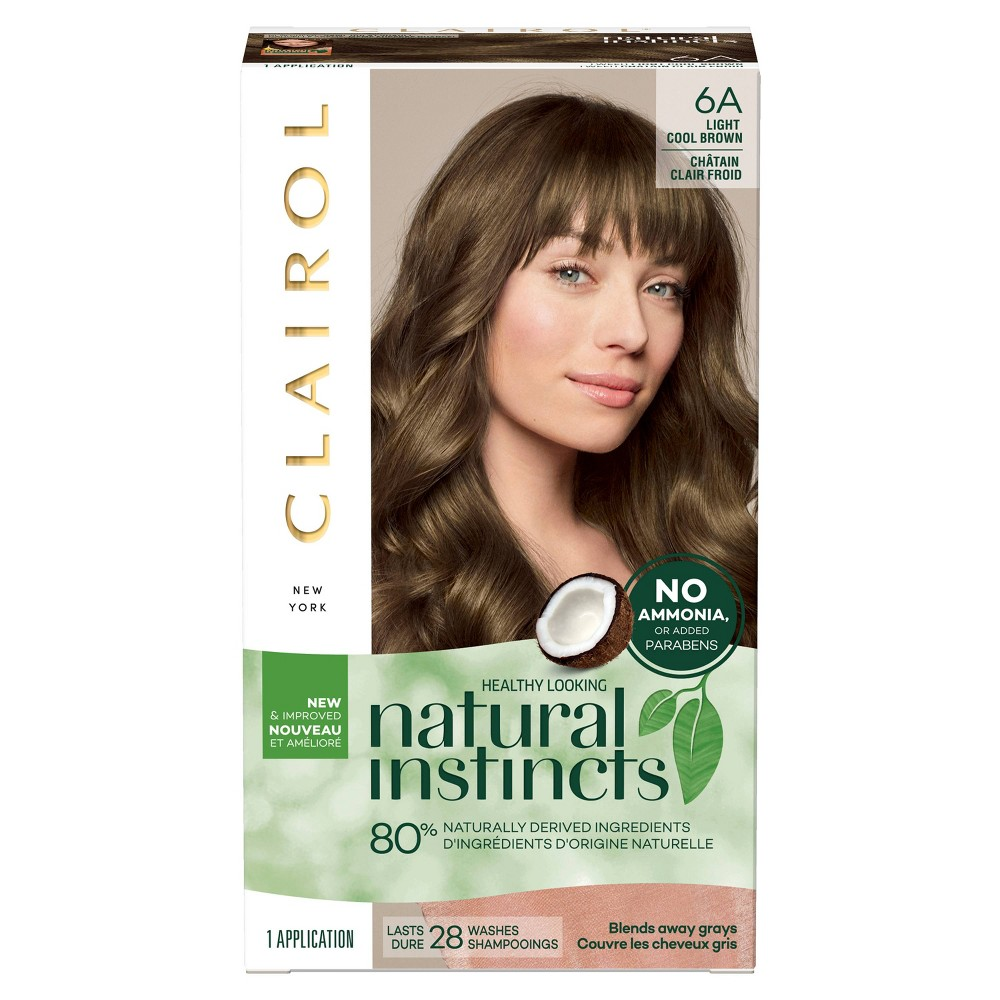 Image of Natural Instincts Clairol Non-Permanent Hair Color - 6A Light Cool Brown, Tweed - 1 Kit, 6A - Light Cool Brown
