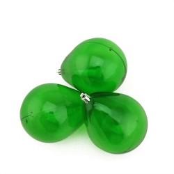 "Northlight 3ct Transparent Teardrop Shatterproof Christmas Ornament Set 4.75"" - Green"