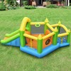 Costway Inflatable Slide Bouncer Ball Pit Basketball Dart Game Without Blower - image 3 of 4