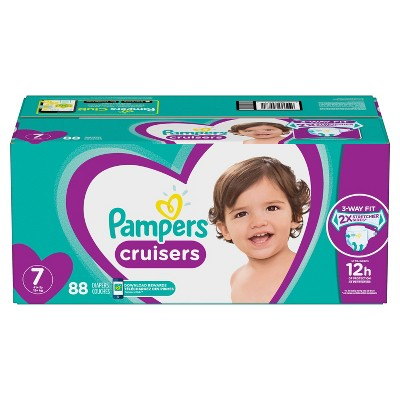 Pampers Cruisers Disposable Diapers One Month Supply - Size 7 (88ct)