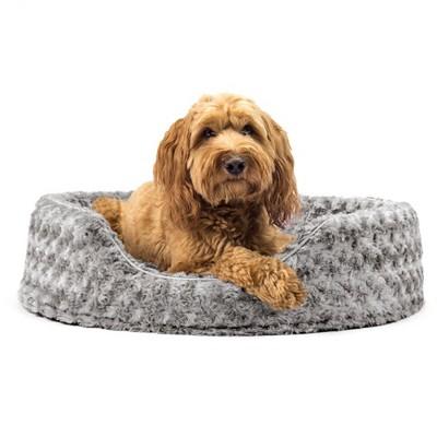 FurHaven Ultra Plush Oval Cuddler Dog Bed