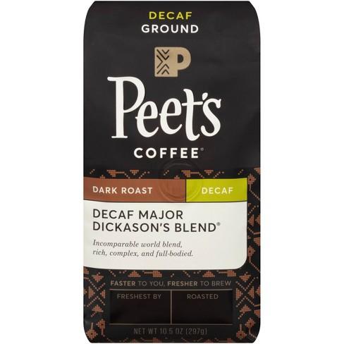Peet's Decaf Major Dickason's Blend Dark Roast Ground Coffee 10.5 oz - image 1 of 4