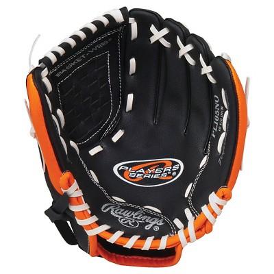 "Rawlings Players Series 10.5"" T Ball Gloves - Black/Orange"