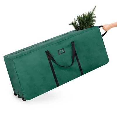 Best Choice Products Rolling Duffle Holiday Decoration Storage Bag for 9ft Christmas Tree w/ Wheels, Handle - Green