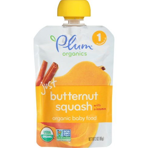 Plum Organics Stage 1 Baby Food Pouch - Just Butternut Squash Baby Food 3 oz - image 1 of 4