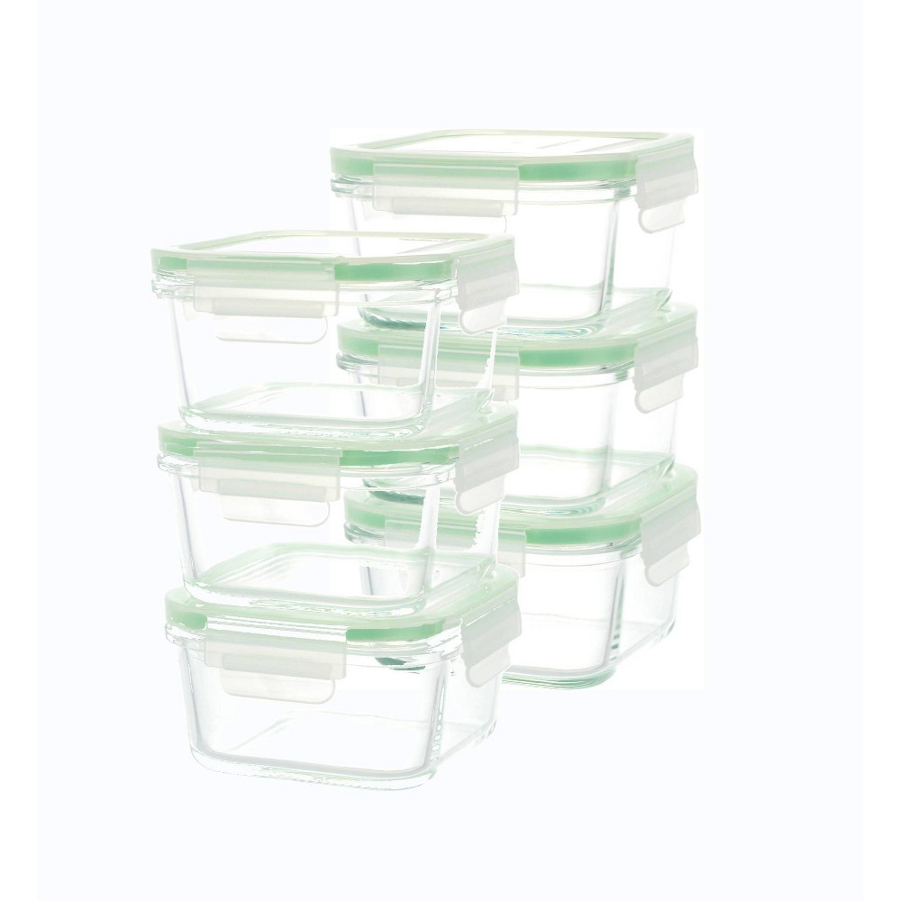 Kinetic Go Green Glassworks Square Food Storage Container Set 37oz