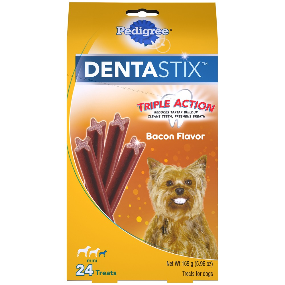 Pedigree DentaStix - Treats For Small Dogs - Bacon - 24 Treats - 5.96oz