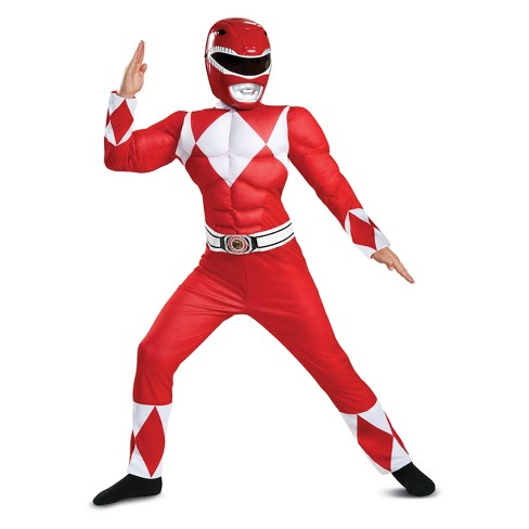Kids' Power Rangers Red Ranger Muscle Halloween Costume - image 1 of 1