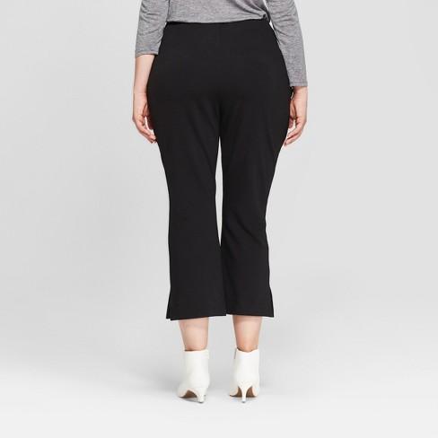 Womens Plus Size Crop Flare Pants Prologue Black Target