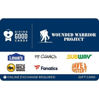 Giving Good Wounded Warrior Gift Card $25 (Email Delivery)