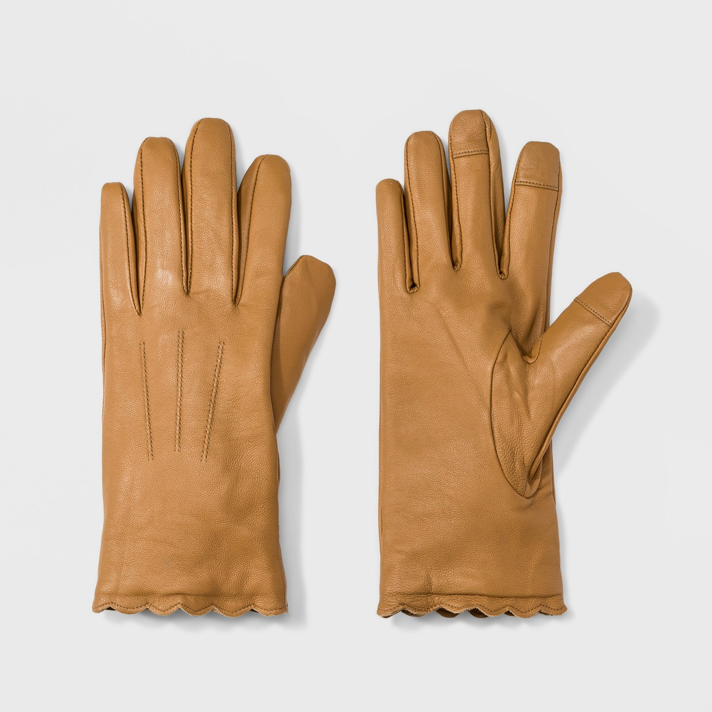 Women's Leather Scallops Gloves - A New Day™ - image 1 of 1