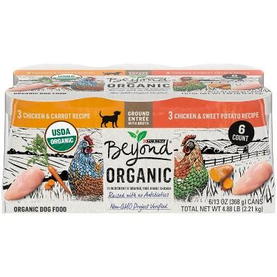 Purina Beyond Organic Chicken Ground Wet Dog Food - 13oz/6ct Variety Pack