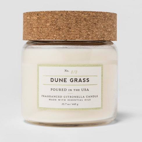 Glass Jar With Cork Lid Candle Dune Grass Citronella Smith