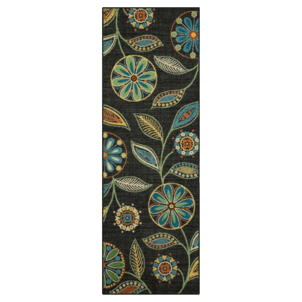 Image of Floral Tufted Runner 2'X6' - Maples, Multicolored