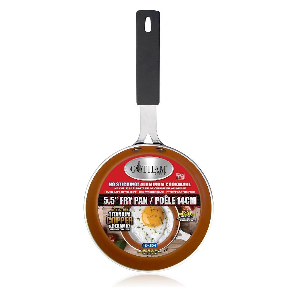 """Image of """"As Seen on TV 5.5"""""""" Gotham Steel Single Egg Fry Pan, Brown"""""""