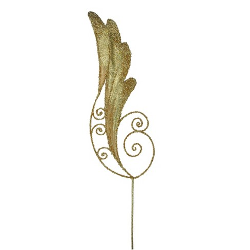 Allstate Floral 24 Glittered Gold Angel Wing Artificial Spring Craft Pick