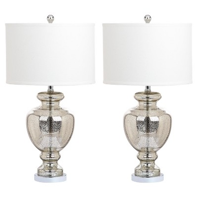 Mercury Glass Morocco Table Lamp Set of 2 - Safavieh