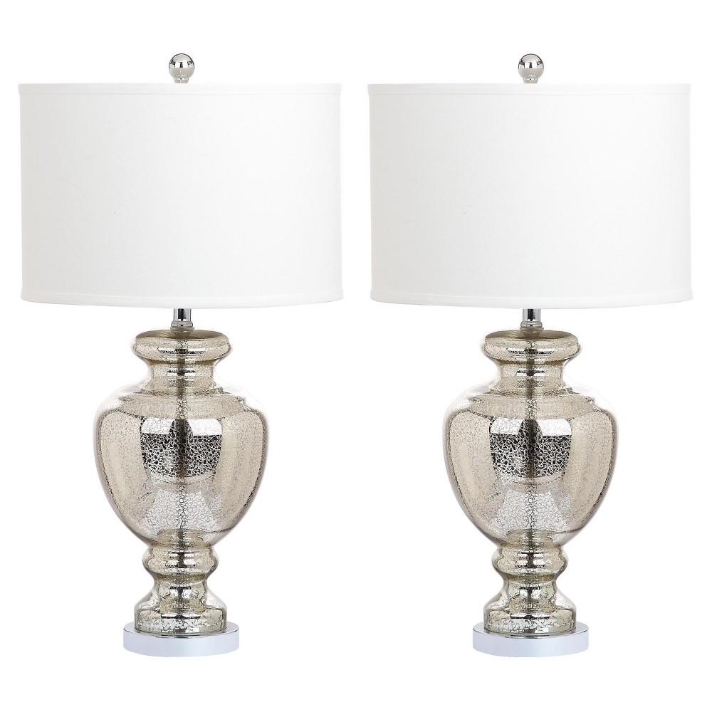 Mercury Glass Morocco Table Lamp Set of 2 - Safavieh