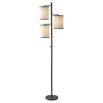 "74"" Bellows Tree Lamp Brown - Adesso"