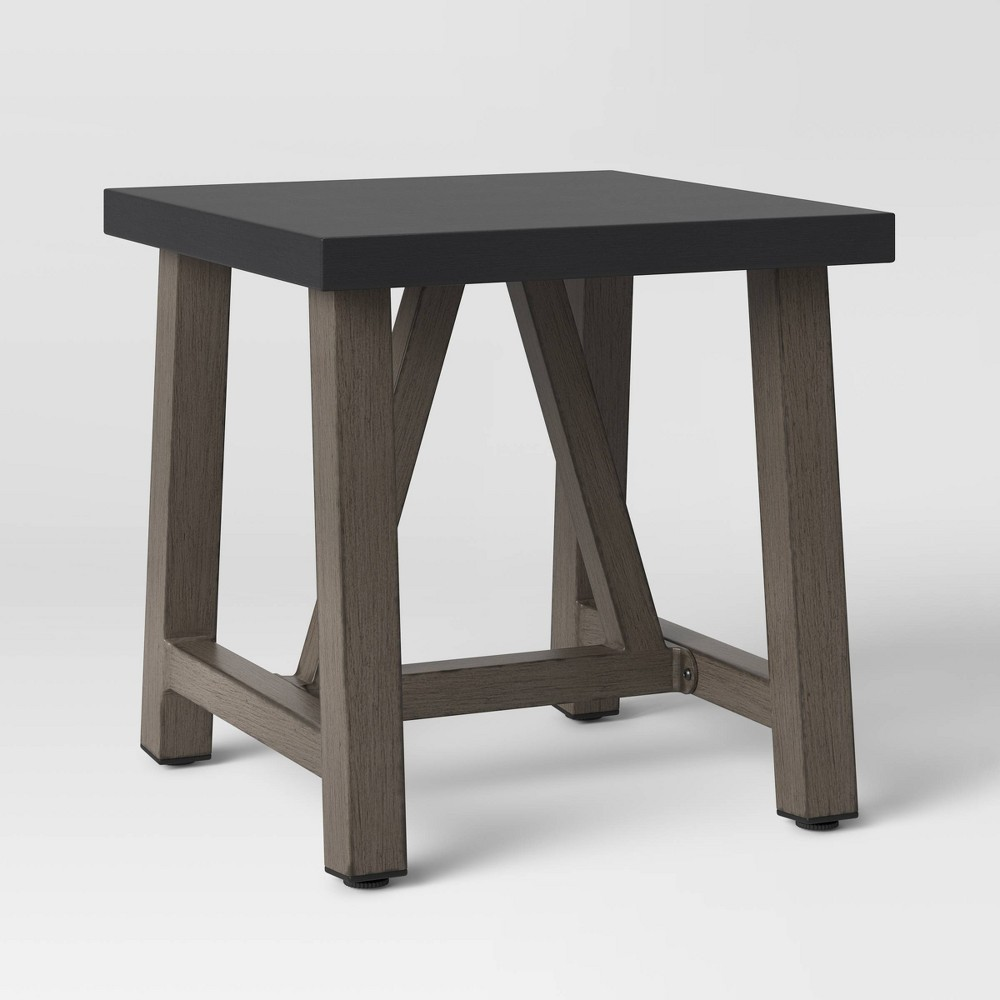 Cheap Concrete & Faux Wood Patio Accent Table - Smith & Hawken™