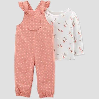 Baby Girls' Giraffe Top & Bottom Set - Just One You® made by carter's Pink/Off-White 3M