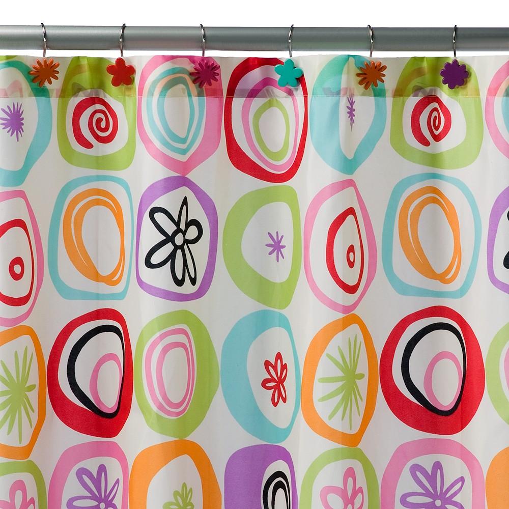 Image of All That Jazz Shower Curtain Blue/Green - Creative Bath, Blue/Green/Orange/Purple