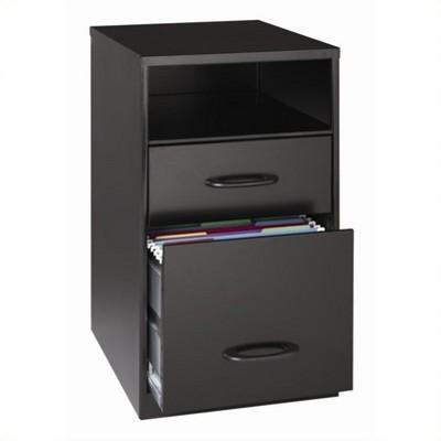 SOHO 2 Drawer File Cabinet in Black-Hirsh