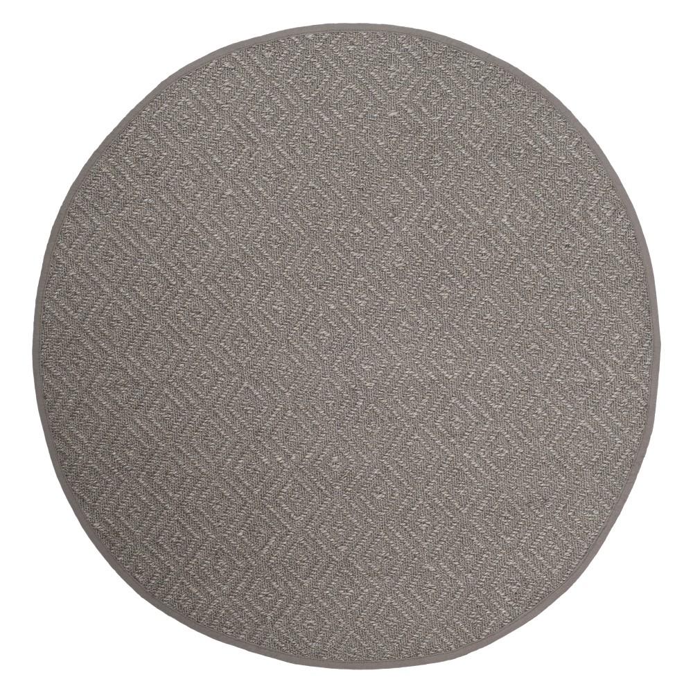 6 Geometric Loomed Round Area Rug Light Gray - Safavieh Compare