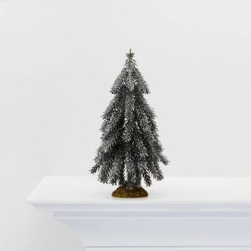 Small Glitter Tree Christmas Tree Decorative Figurine Silver - Wondershop™ - image 1 of 4