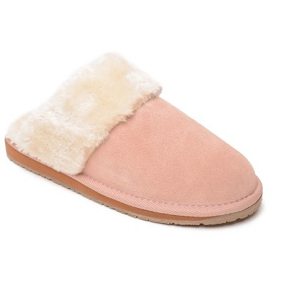 Minnetonka Women's Suede Carefree Scuff Slide Slipper