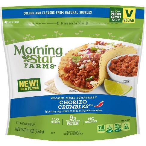 Morningstar Farms Frozen Chorizo Crumbles - 10oz : Target