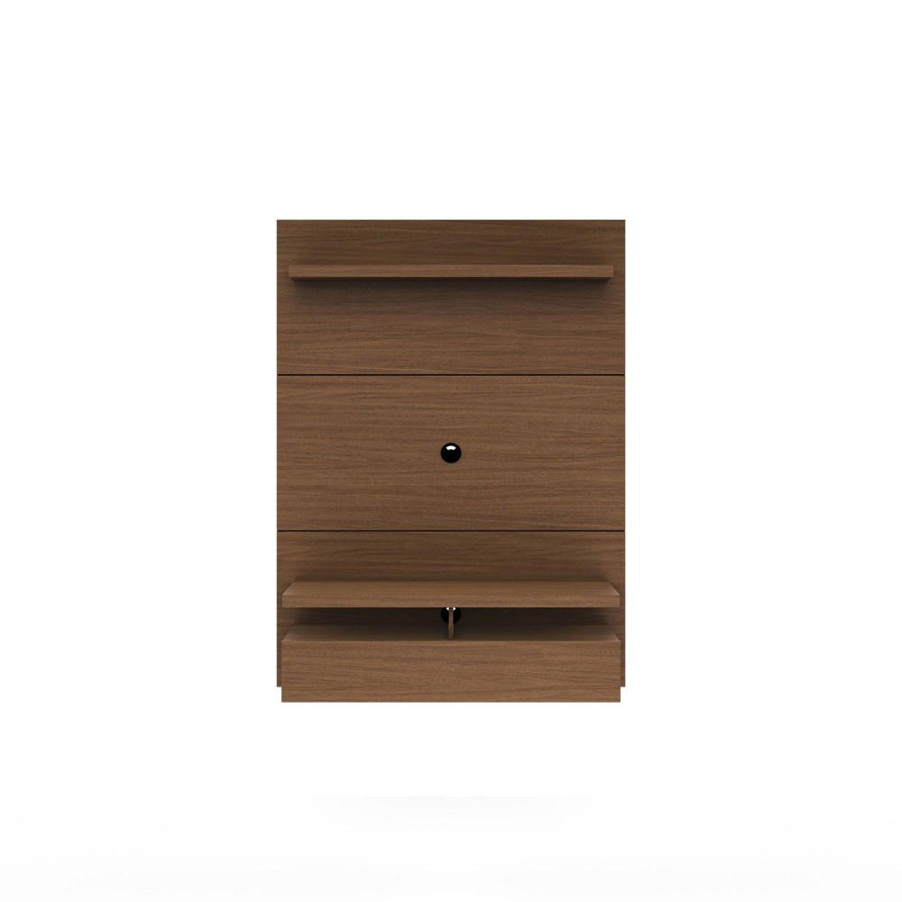 City 1.2 Floating Wall Theater Entertainment Center Nut Brown - Manhattan Comfort