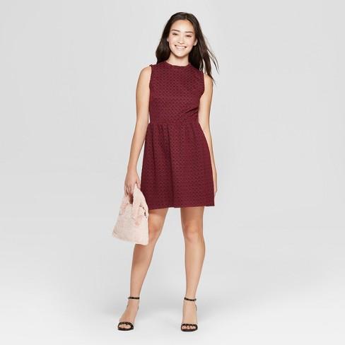 7d05d28d9351 Women s Sleeveless Knit Jacquard Dress - Xhilaration™   Target
