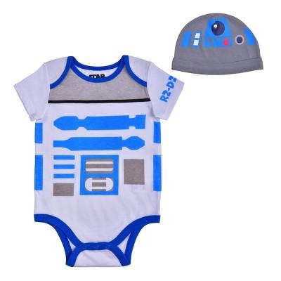Star Wars Baby Boy's Short Sleeve Creeper for Infants