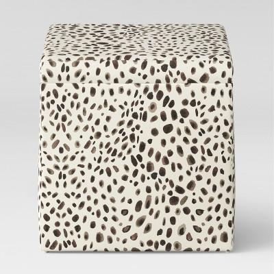 Plano Square Storage Ottoman Washed Cheetah - Project 62™