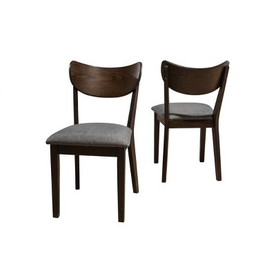 Set of 2 San Marino Mid-Century Modern Wood Back Side Chairs Chestnut - Hillsdale Furniture