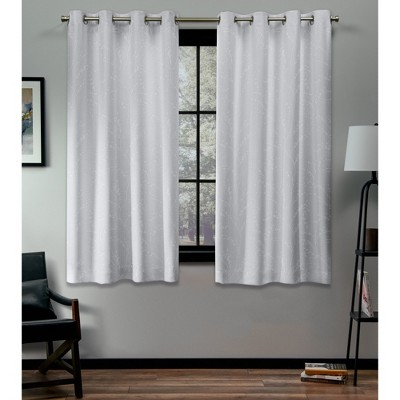 """Set of 2 108""""x52"""" Kilberry Woven Blackout Grommet Top Window Curtain Panel Winter - Exclusive Home"""