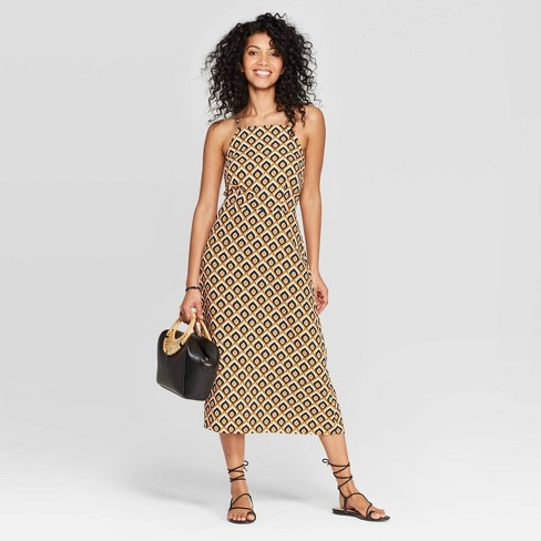 Women's Sleeveless Strappy Midi Dress - A New Day™ Tan - image 1 of 3